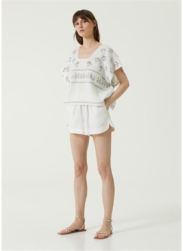 İn The Mood For Love Beachwear Bluz Beyaz